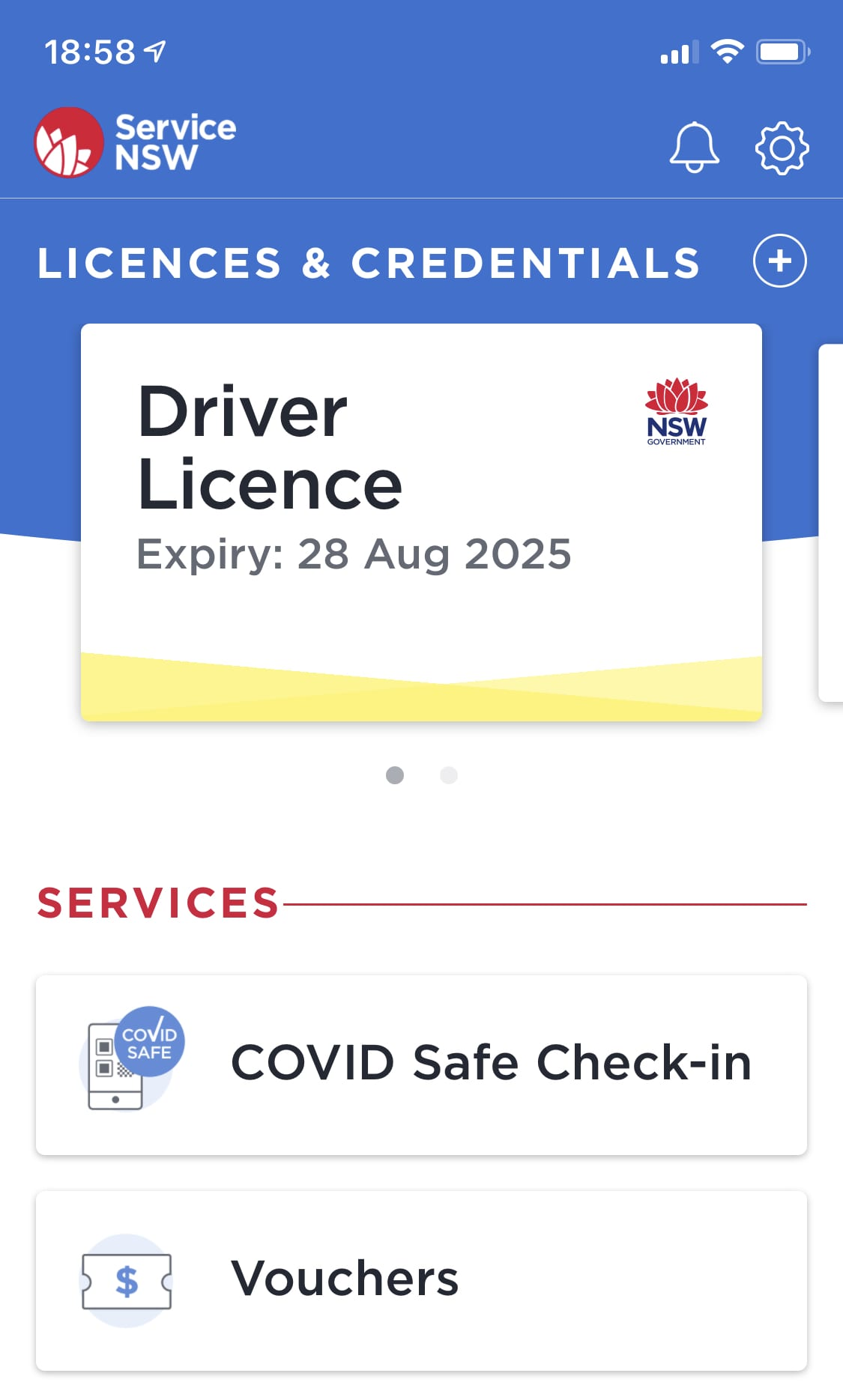 Service NSW Voucher Section