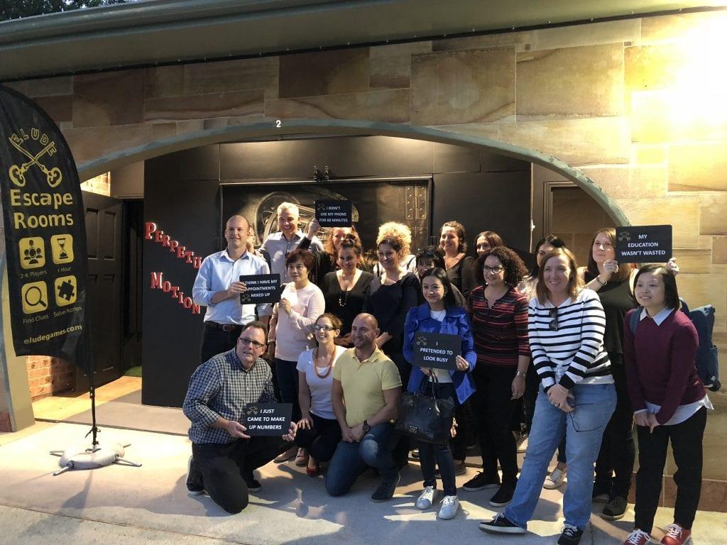 The Ecco Shoes Team Celebrating their Escape