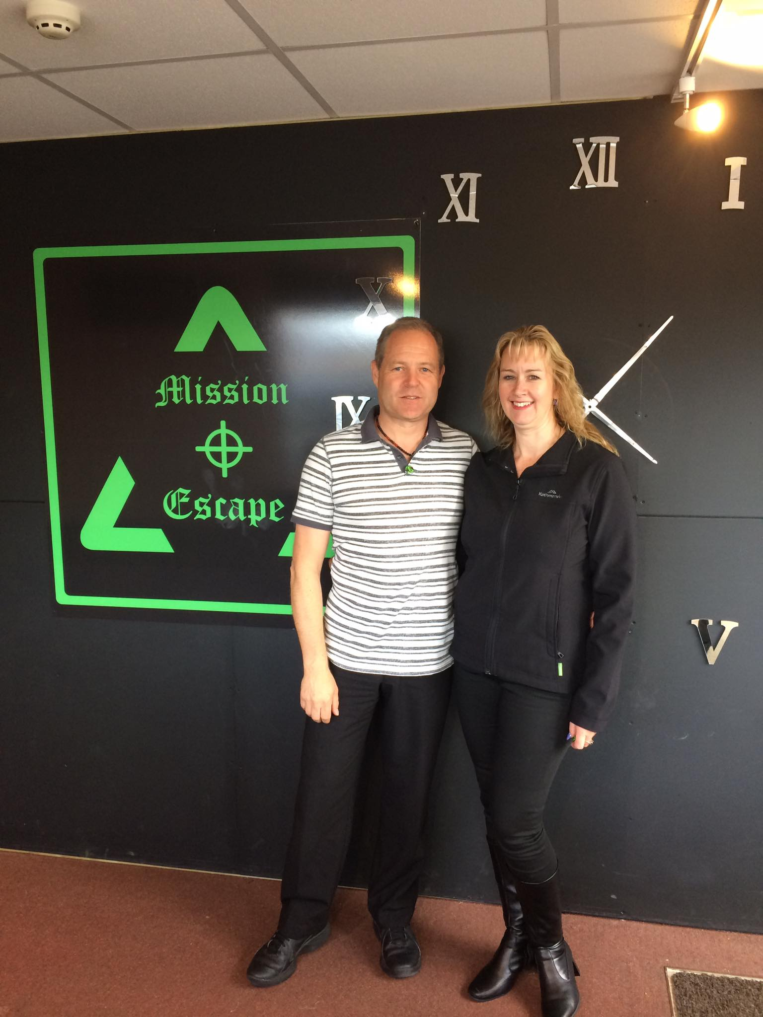 Julia and Darren at Mission Escape in Plymouth