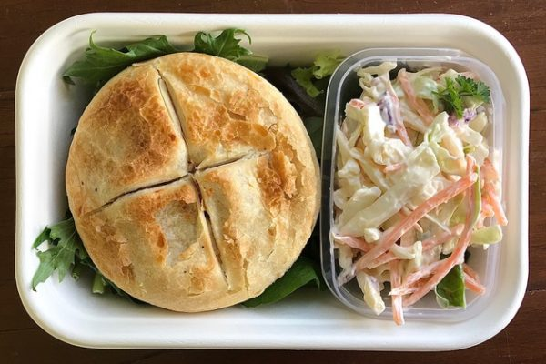 Pie and Salad in a Party Box
